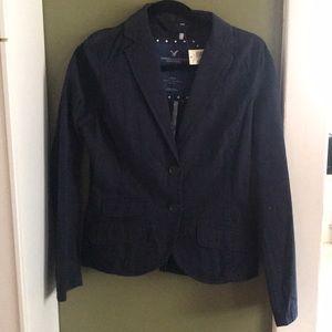 AEO NWT navy pinstriped blazer